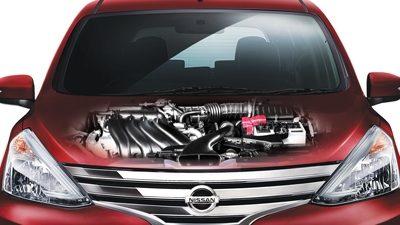 gambar dapur pacu mobil Nissan Grand Livina 2017 berwarna merah