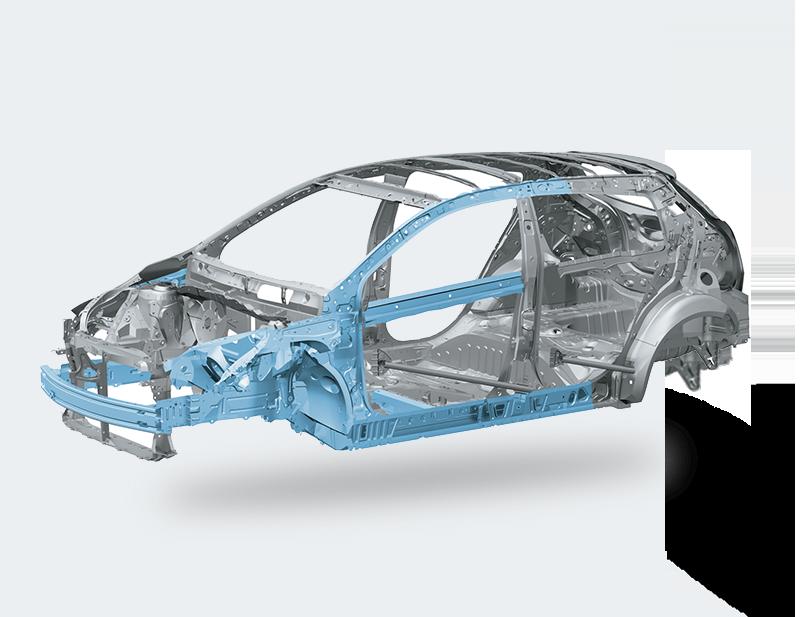 Model Absorbing Body Structure dan High Strength Body Frame di mobil Toyota Yaris 2017