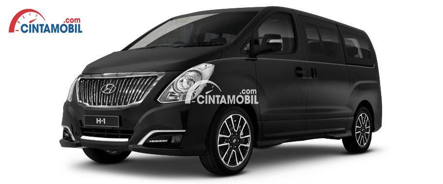 Gambar mobil Hyundai H1 2017 berwarna hitam