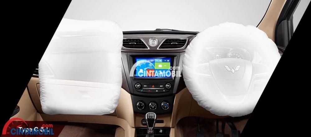 Gambar fitur dual airbag di mobil Wuling Confero 2017