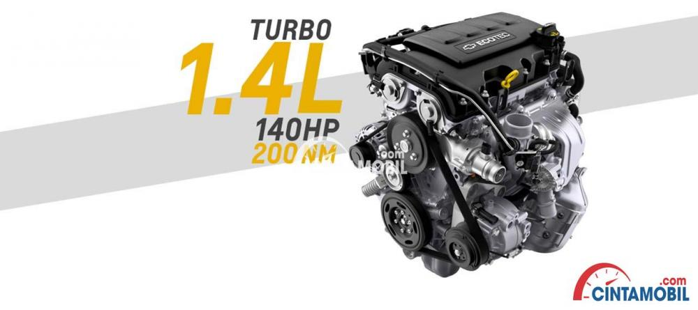 Mesin turbo 1.4 L 140 Hp 200 Nm New Chevrolet Trax 2017