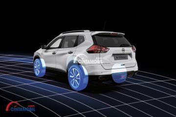 gambar menggambarkan Fitur chasis control di Nissan X-Trail 2016