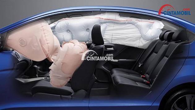 Fitur dual front SRS Airbag di mobil Honda City 2016