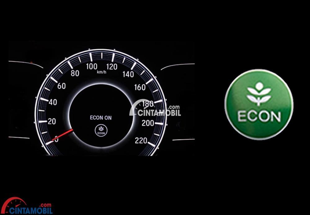 Gambar menunjukkan fitur ECON Mode di mobil Honda Odyssey 2017