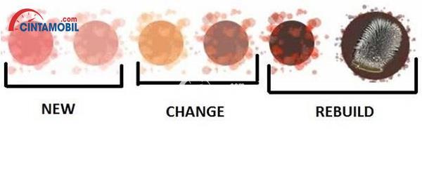 beberapa contoh warna yang ada pada cairan transmisi