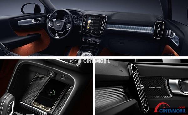 Desain interior Volvo XC40 yang elegan dan terkesan mewah