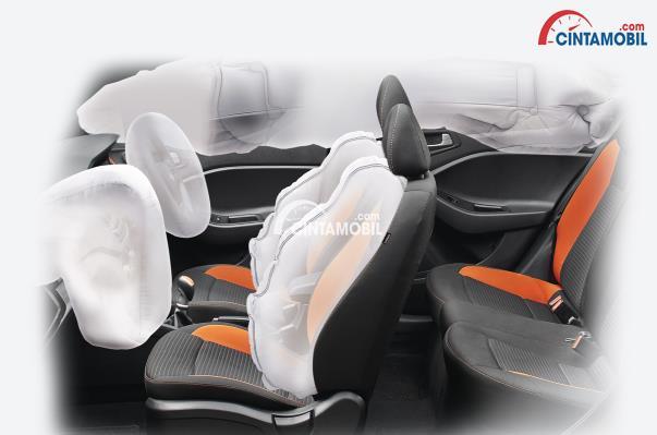 gambar fitur airbag di mobil Hyundai i20 2017