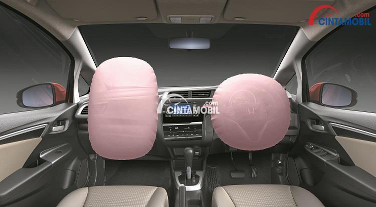 Fitur SRS Front airbag di mobil Honda Jazz 2016