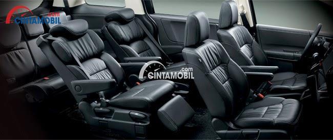 gambar kursi Honda Odyssey 2016 berwarna hitam