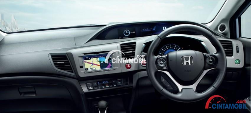 gambar bagian dashboard dan setir Honda Civic 2014
