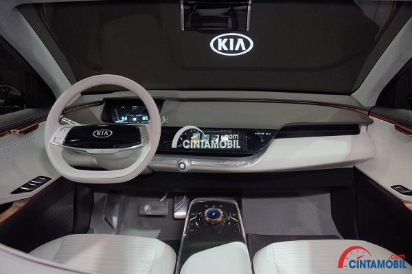 Bagian interior pada mobil konsep Kia Niro EV