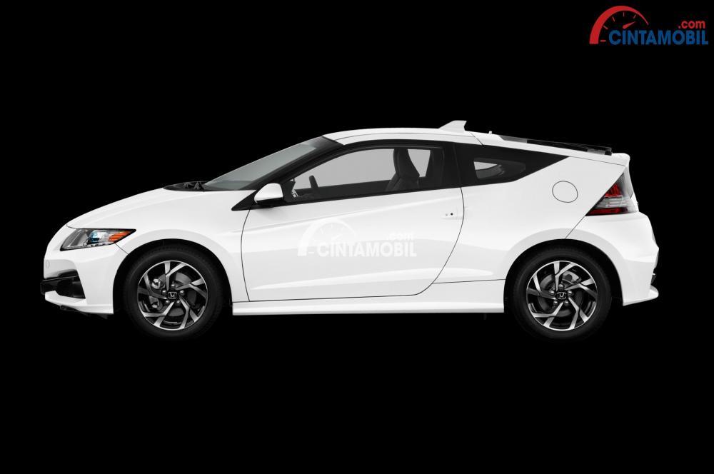 Gambar bagian samping Honda CR-Z 2016 berwarna putih