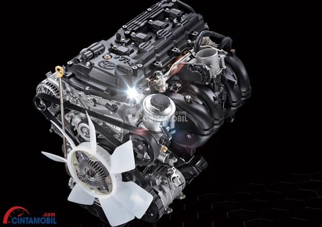 Gambar bagian mesin mobil Toyota Fortuner 2016