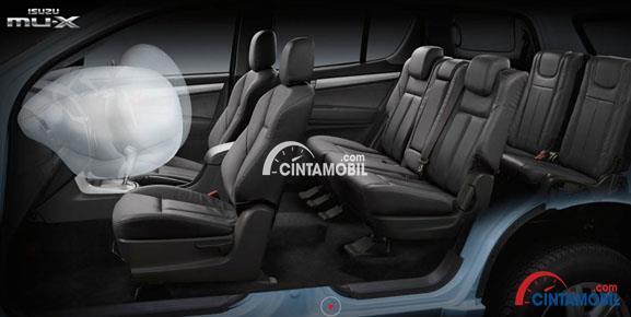 fitur airbags di bagian depan mobil Isuzu Mu-X 2017