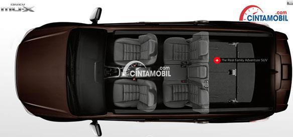 Gambar ruang kabin mobil Isuzu Mu-x 2017 berwarna coklat