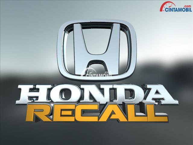 Honda Mengumumkan akan Melakukan Recall Terhadap Lima Produk Mobil Mereka