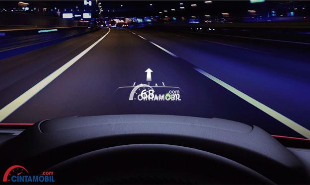 Windshield Active Driving Display mobil Mazda CX-5 2017