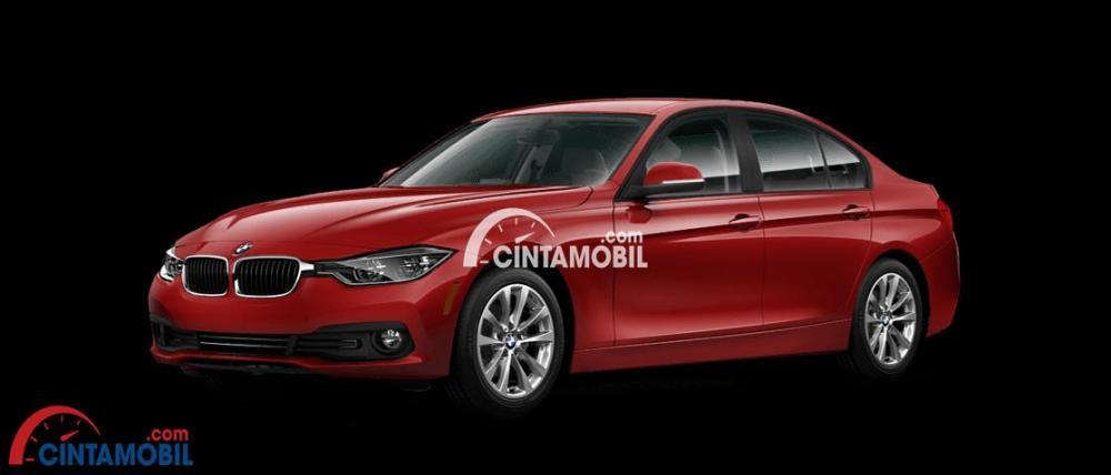 gambar mobil BMW 3 series berwarna orange