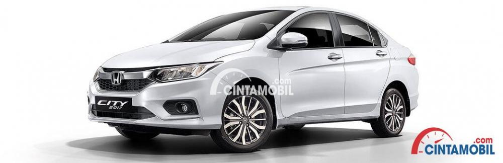 gambar mobil Honda City berwarna putih