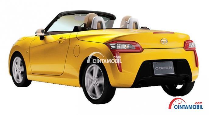 Sisi belakang Daihatsu Copen menggunakan Stylish Rear Lamps yang bukan hanya mampu memberikan penerangan yang maksimal namun juga tampilan yang modern