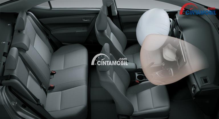Fitur airbag di mobil Toyota Corolla Altis 2017
