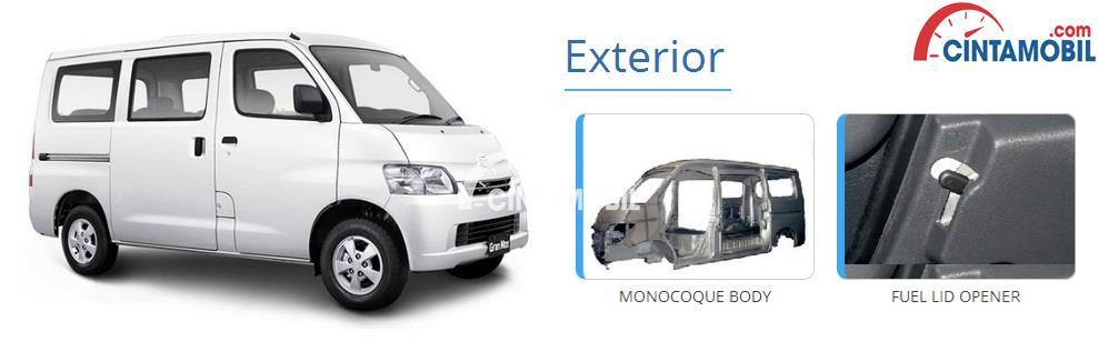 Fitur Daihatsu Gran Max menggunakan fitur keselamatan yang lengkap seperti 3 Point ELR Seat Belts