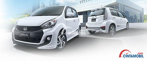 Tampilan eksterior Daihatsu Sirion terlihat sangat menarik dan sporty