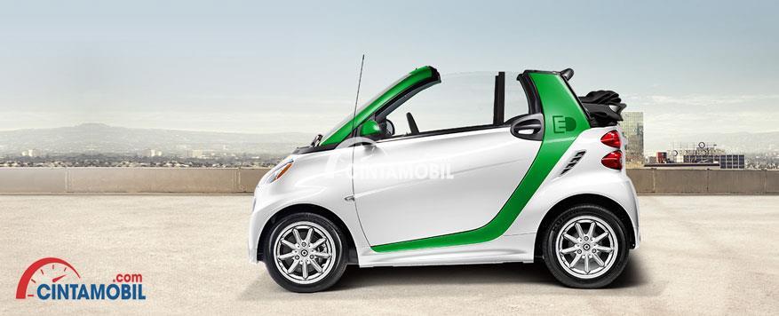 Mobil Listrik Mungil Ramah Lingkungan Smart Fortwo Cabrio Ev