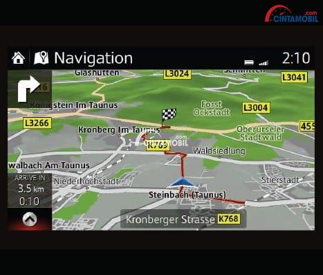 Fitur Navigasi Modern mobil Mazda CX-3 2017