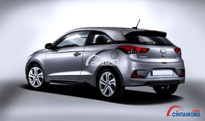 Gambar yang menunjukan bagian belakang Hyundai i20 facelift terbaru