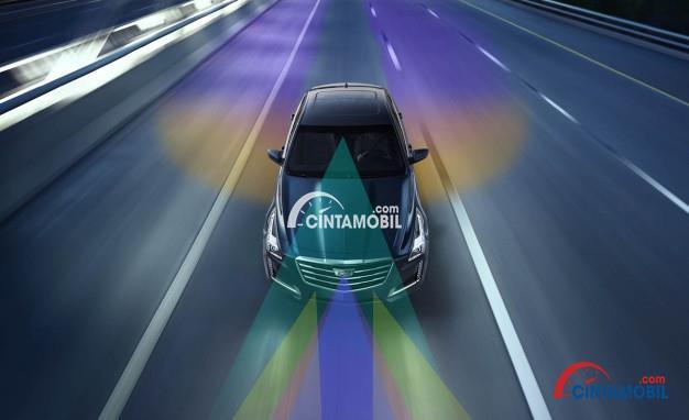 Gambar yang menunjukan ilustrasi penglihatan dalam mengemudi mobil