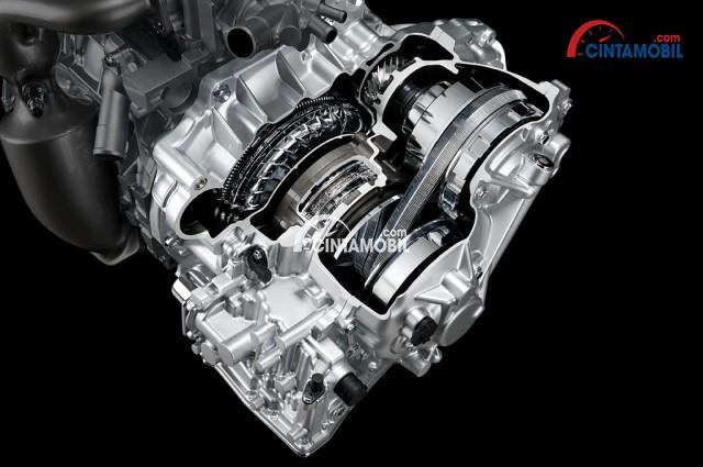 Gambar yang menunjukan mesin Direct Shift-CVT dari Toyota