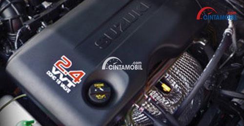 Mesin Suzuki Grand Vitara mengusung tipe J24B berkapasitas 2.393 cc yang tentu mampu memberikan performa bertenaga