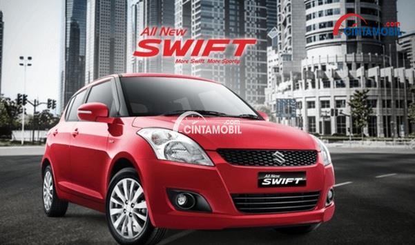 Tampilan Suzuki Swift mengusung desain bodi yang bukan hanya sporty namun juga elegan dan modern