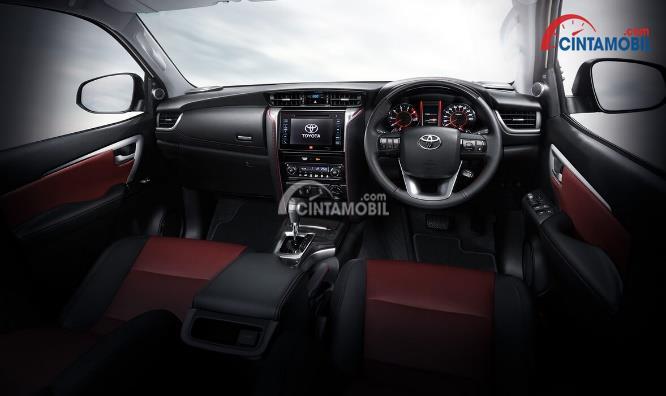 Gambar bagian dashboard mobil Toyota Fortuner 2017