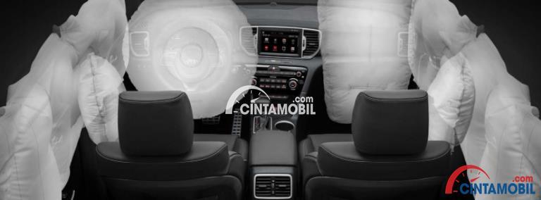 Gambar fitur airbag di mobil Kia Sportage 2016