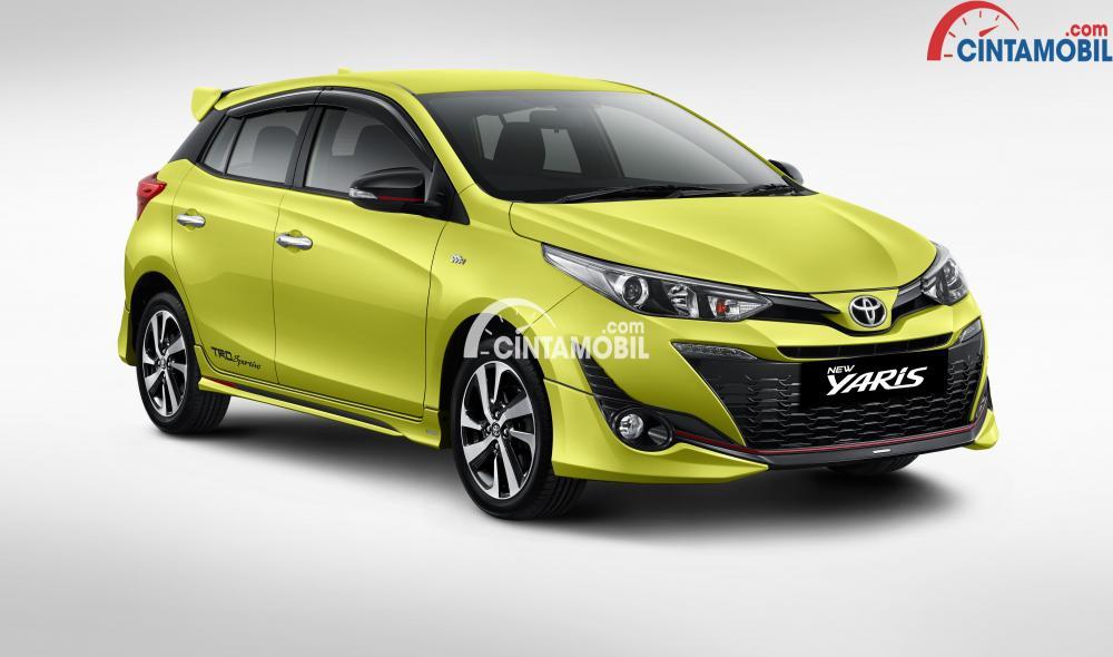 Toyota Yaris TRD Sportivo menjadi varian tertinggi dengan menghadirkan fitur-fitur tambahan pada aspek eksteriornya