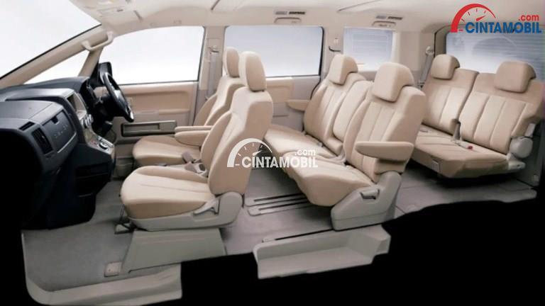 Gambar bagian kursi mobil Mitsubishi Delica 2017