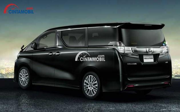 gambar bagian samping mobil Toyota Vellfire 2015 berwarna hitam