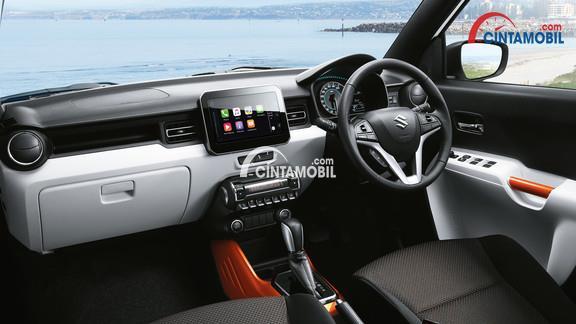 Ruang interior Suzuki Ignis tipe GX terlihat sangat sporty dan sudah dibekali dengan fitur-fitur unggul