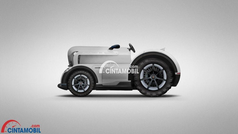 Gambar yang menunjukan mobil Mission E Tractor dari Porsche
