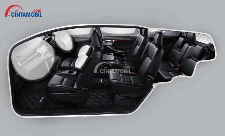 Gambar menunjukkan fitur airbags di mobil Toyota Innova Venturer 2017