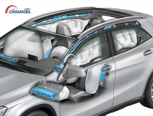 Fitur airbag di mobil Mercedes-Benz GLA 200 AMG Line 2017