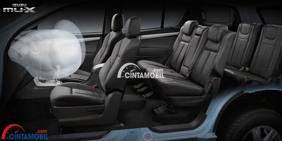 Fitur airbag di bagian depan mobil Isuzu MU-X 2017