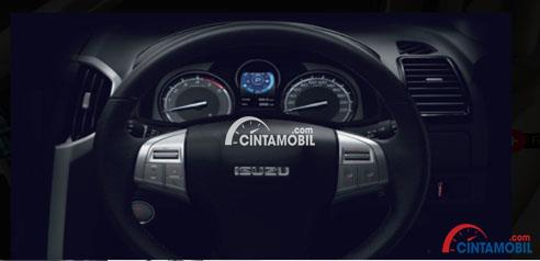 Gambar nagian setir mobil Isuzu MU-X 2017 Dengan Tiga Palang