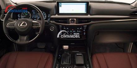 Gambar bagian dashboard Lexus LX 570 2016 dengan memakai material terbaik