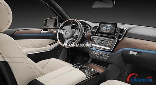 Gambar bagian Dashboard Dengan Teknologi Terbaik di mobil Mercedes-Benz GLS 400 2016
