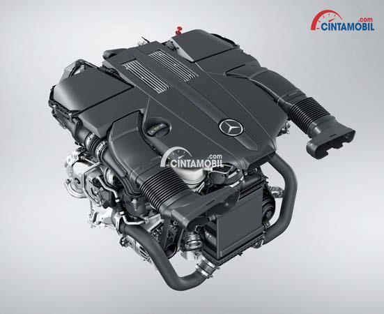 Gambar Mesin V6 di mobil Mercedes-Benz GLS 400 2016