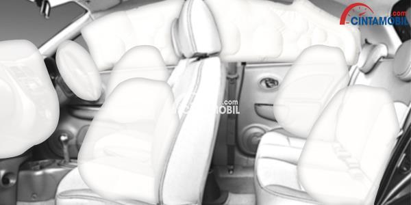 gambar ilustrasi fitur airbag rolls-royce phantom VIII 2018