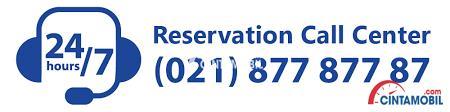 Nomor reservasi TRAC yang bisa dihubungi kapan saja